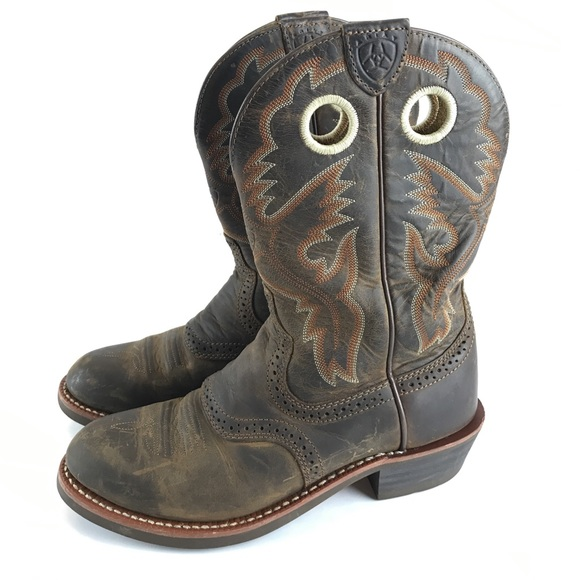 5d958927b54 Ariat heritage roughstock cowgirl boots 7 B